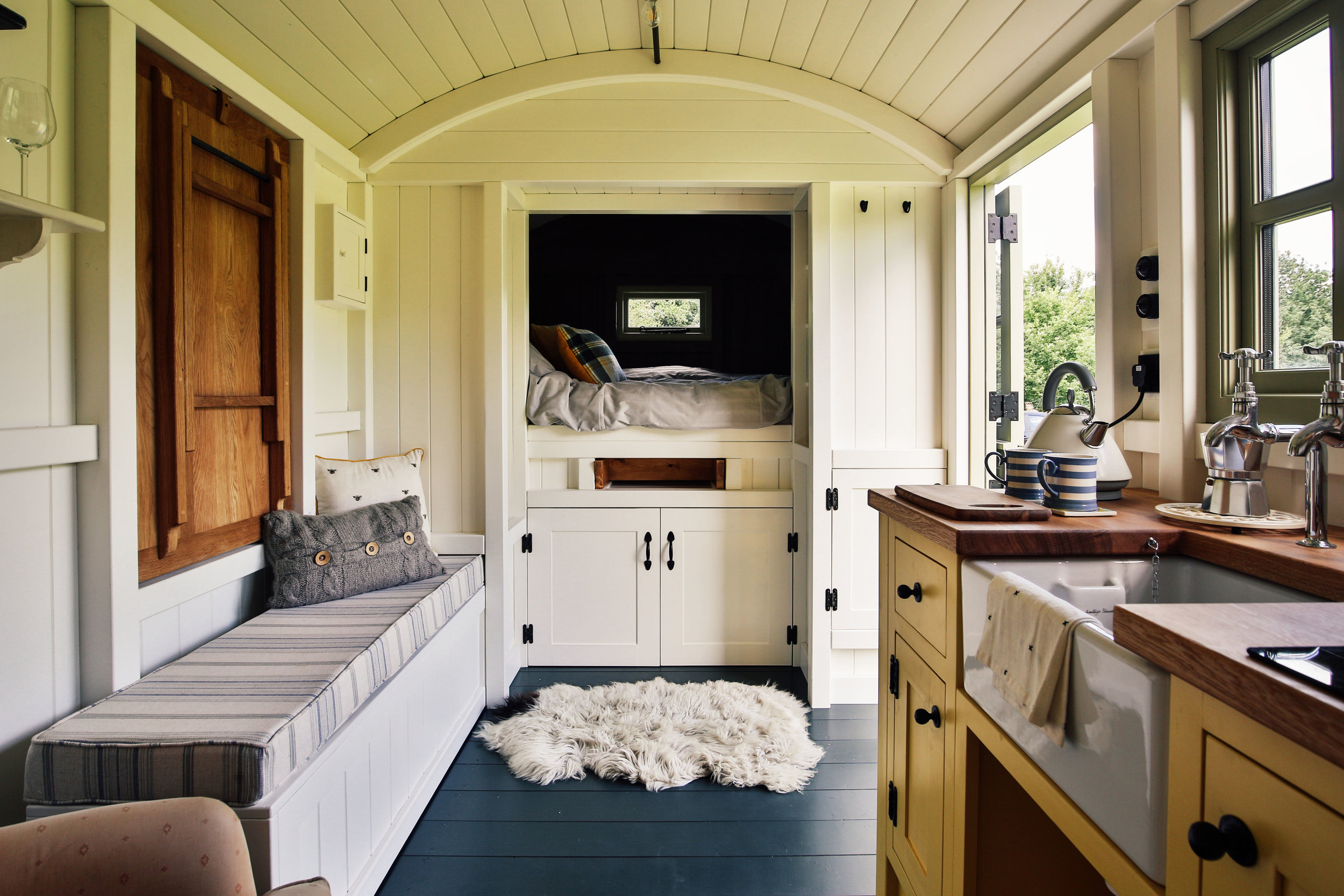 Adam bennett, director of red sky shepherds huts Oxfordshire