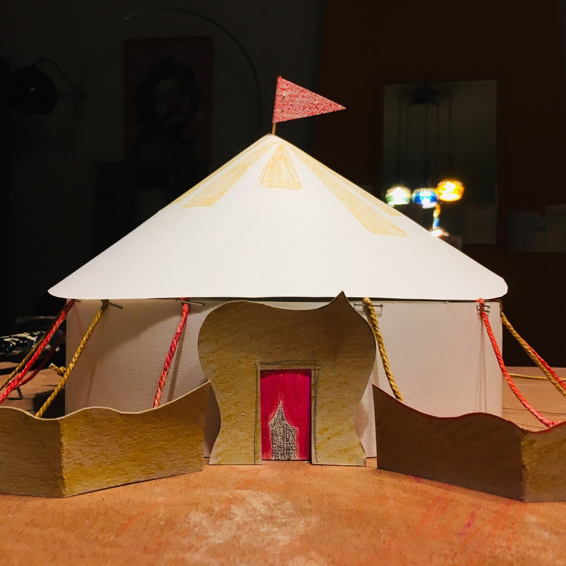 Maquette: ontwerp entree theatertent