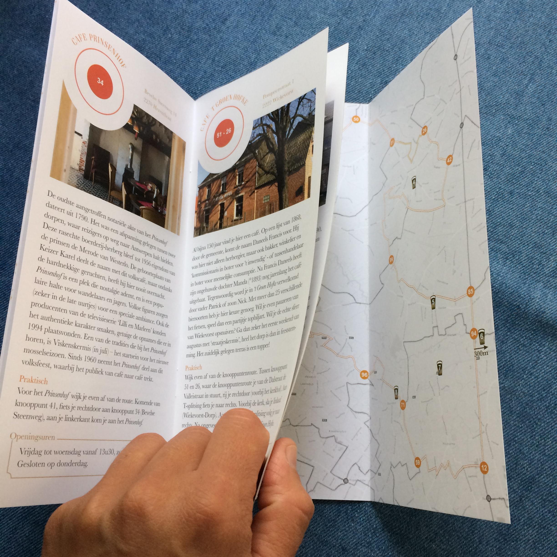 Fietsroutes in kaart gebracht  brochures Kempens Karakter