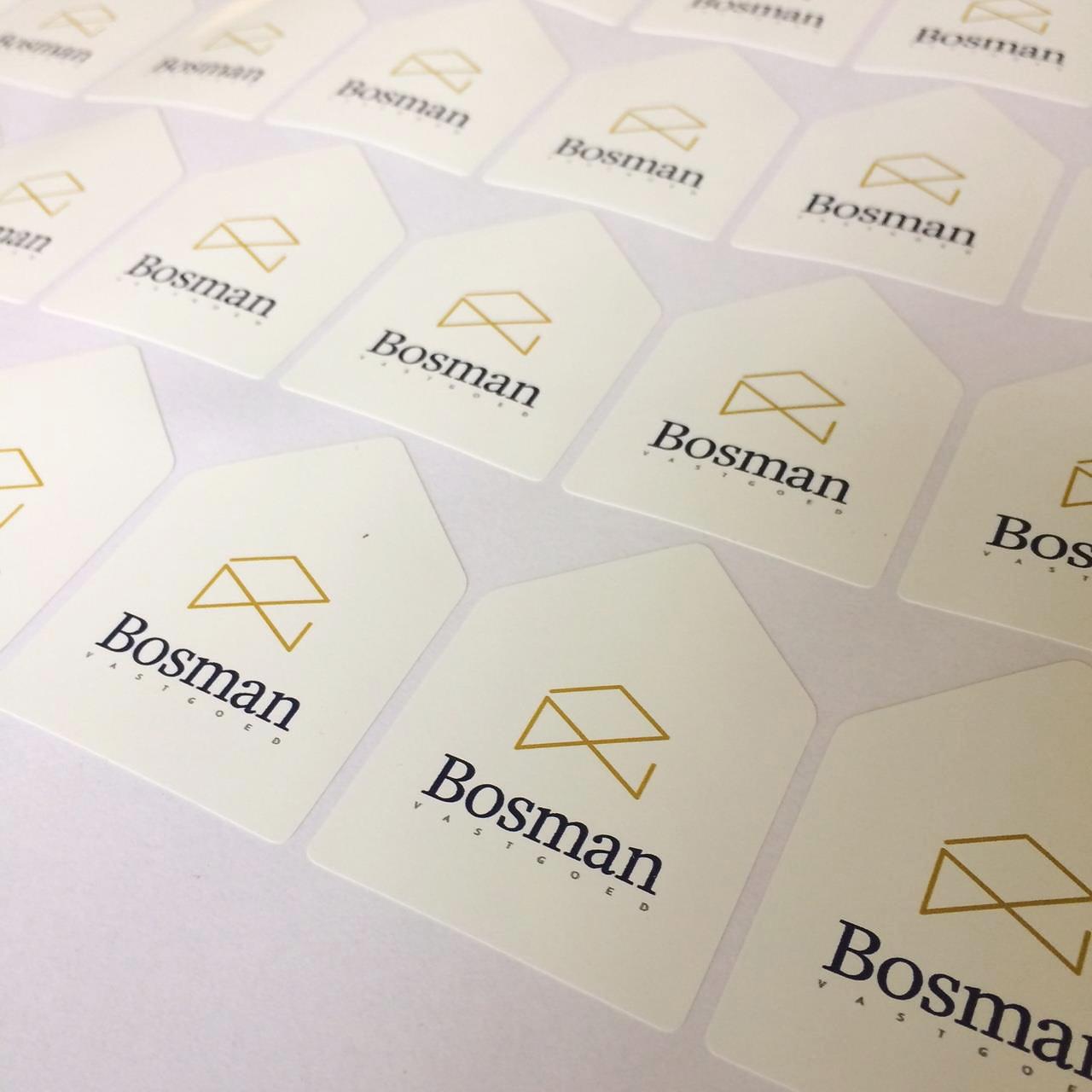 Ontwerp stickers Bosman vastgoed