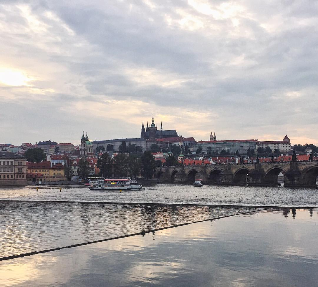 Chilling off the Charles #Praha  (at Prague, Czech Republic)
