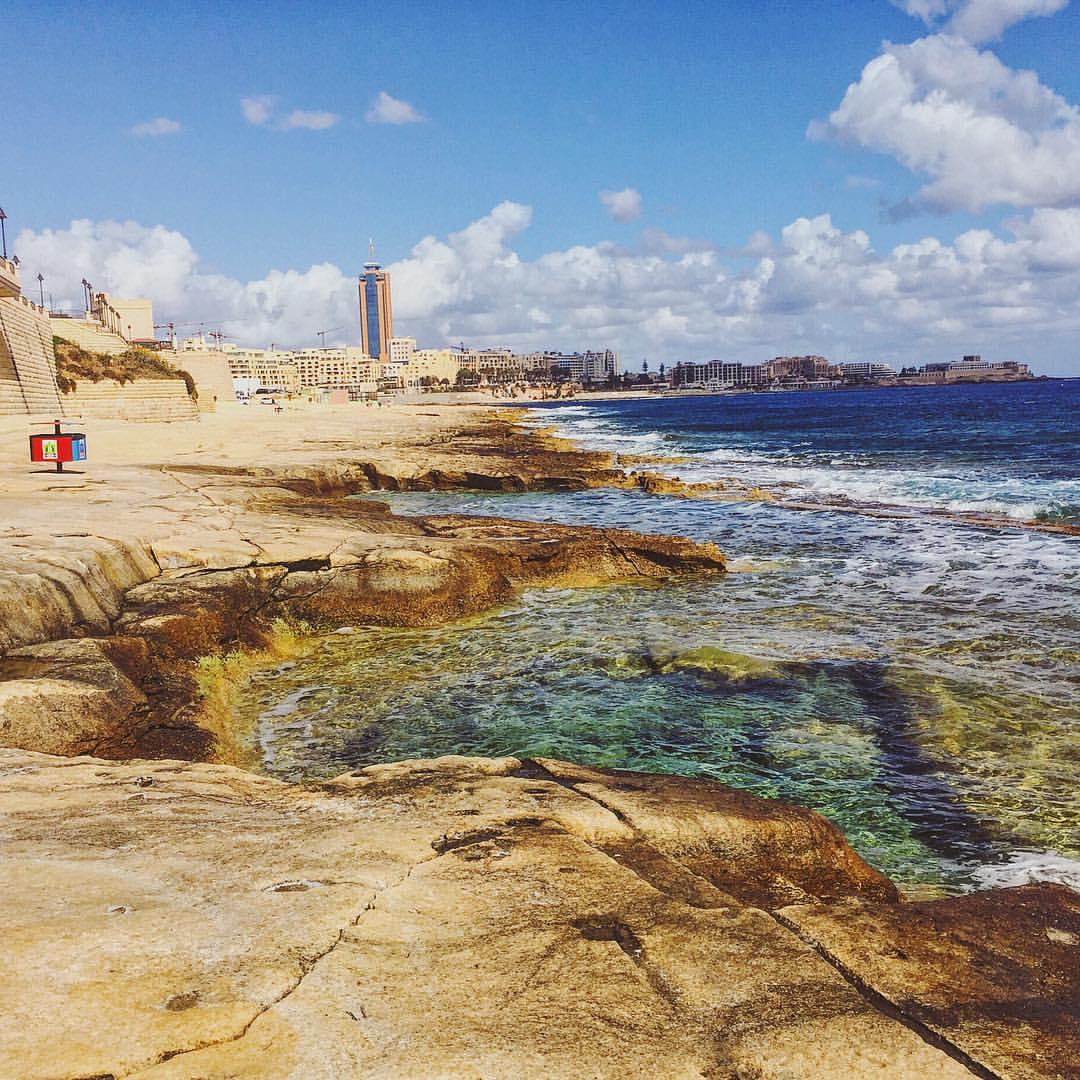 Malta you couldn't be more beautiful if you tried.  (at Sliema Bay, Malta)