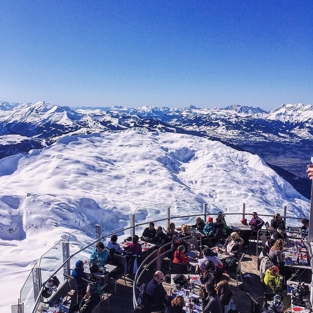 I think I can see 30 from here.  (at Le Panoramic Restaurant - Chamonix-Mont Blanc, France (2500 Meters))