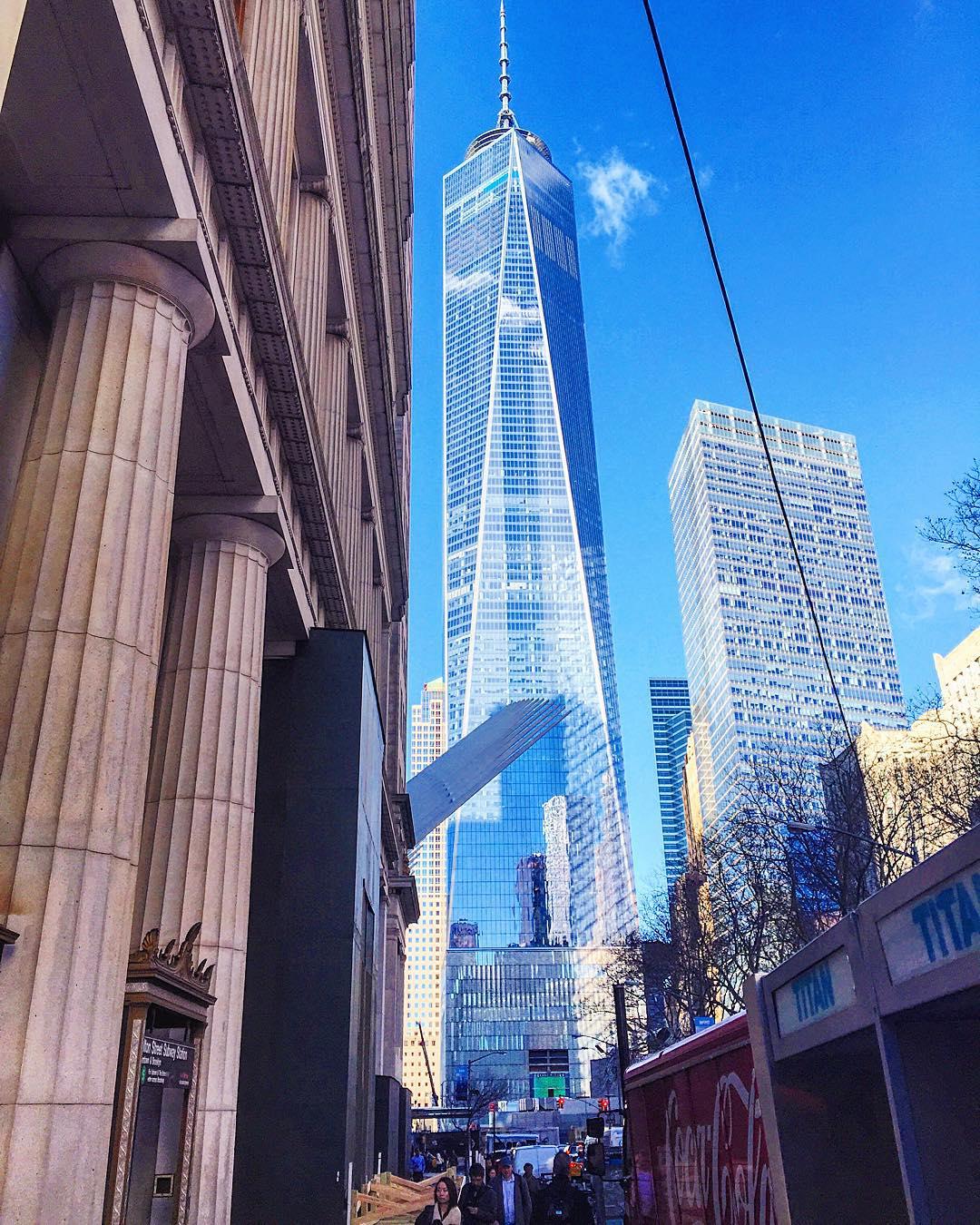 Good morning Manhattan 🗽💙🍎 (at World Trade Center)