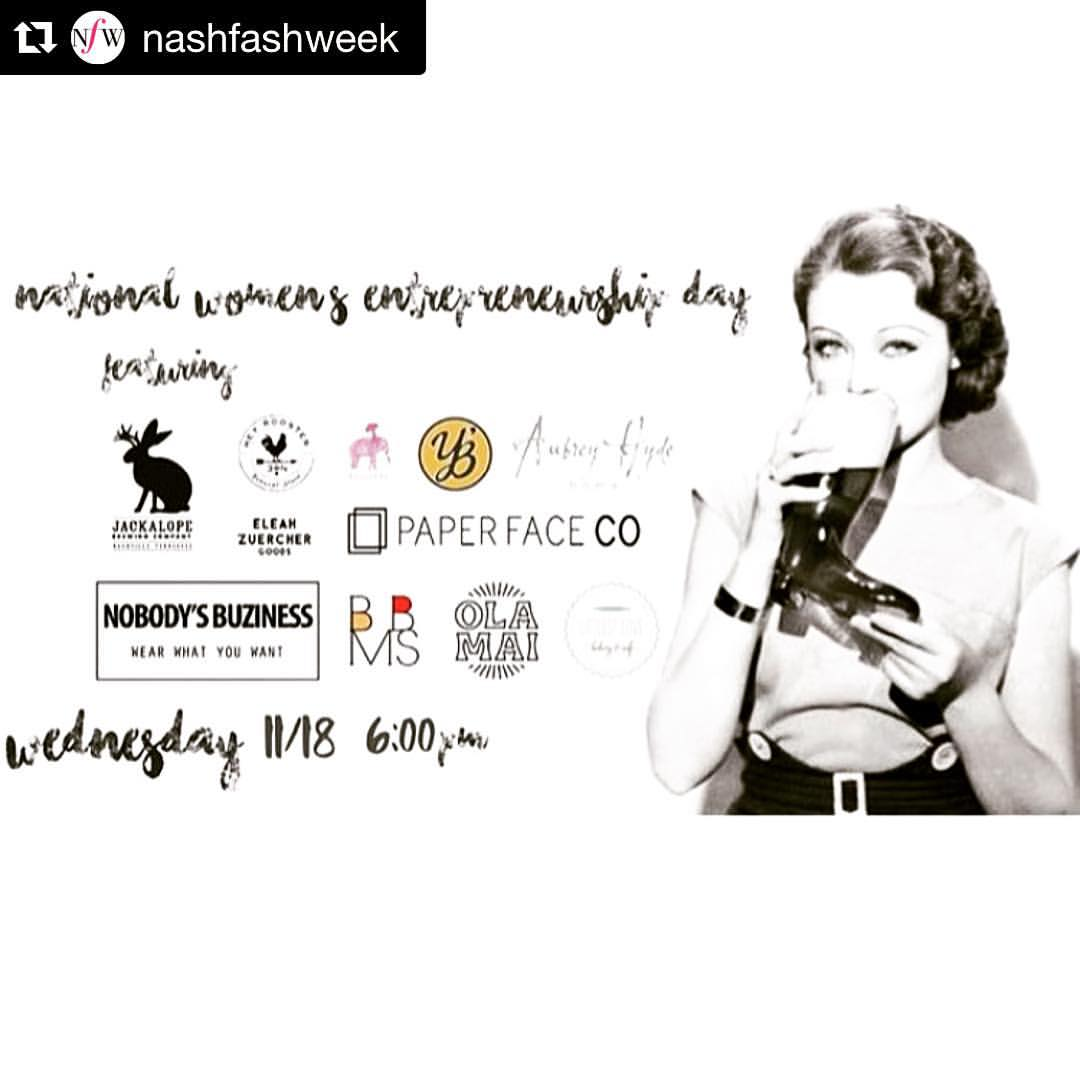#WCW to all the hometown chicas making entrepreneurial spirit something sexy. Support these Dames tonight if you're in #Nashville tonight.    #Repost @nashfashweek with @repostapp.  ・・・  Nashville has a wealth of women entrepreneurs so why not celebrate that? Meet them and shop their pop-up stores tonight @jackalopeden! @blackbymariasilver @ola_mai @nobodys_buziness will be there representing fashion well. 👭👭👭 #whynfw (at London, United Kingdom)