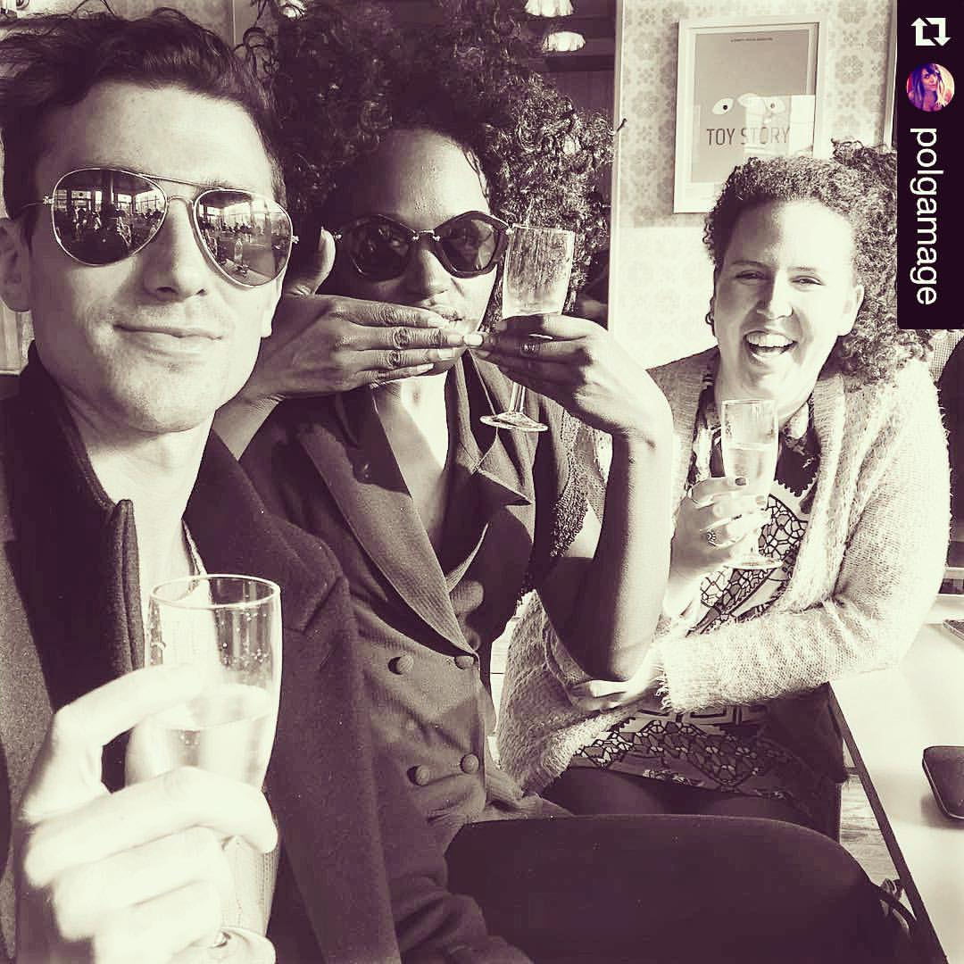 Champs with these vamps    #Repost @polgamage with @repostapp.  ・・・  🍾 (at Market Cafe Broadway Market)