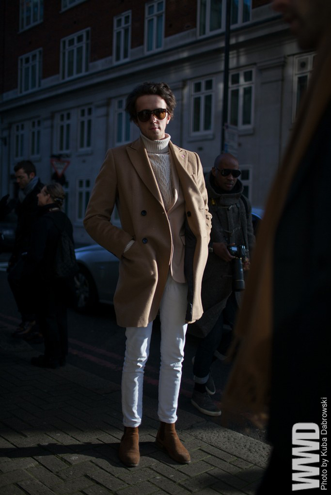 wwd :      TAW: London Men's Fashion Week      It doesn't have to be hump day to rock a camel.
