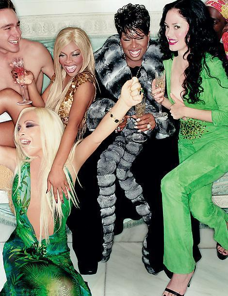 Party like it's 1999: Donatella, Rose McGowan, Missy and Lil' Kim from Versace SS1999 campaign