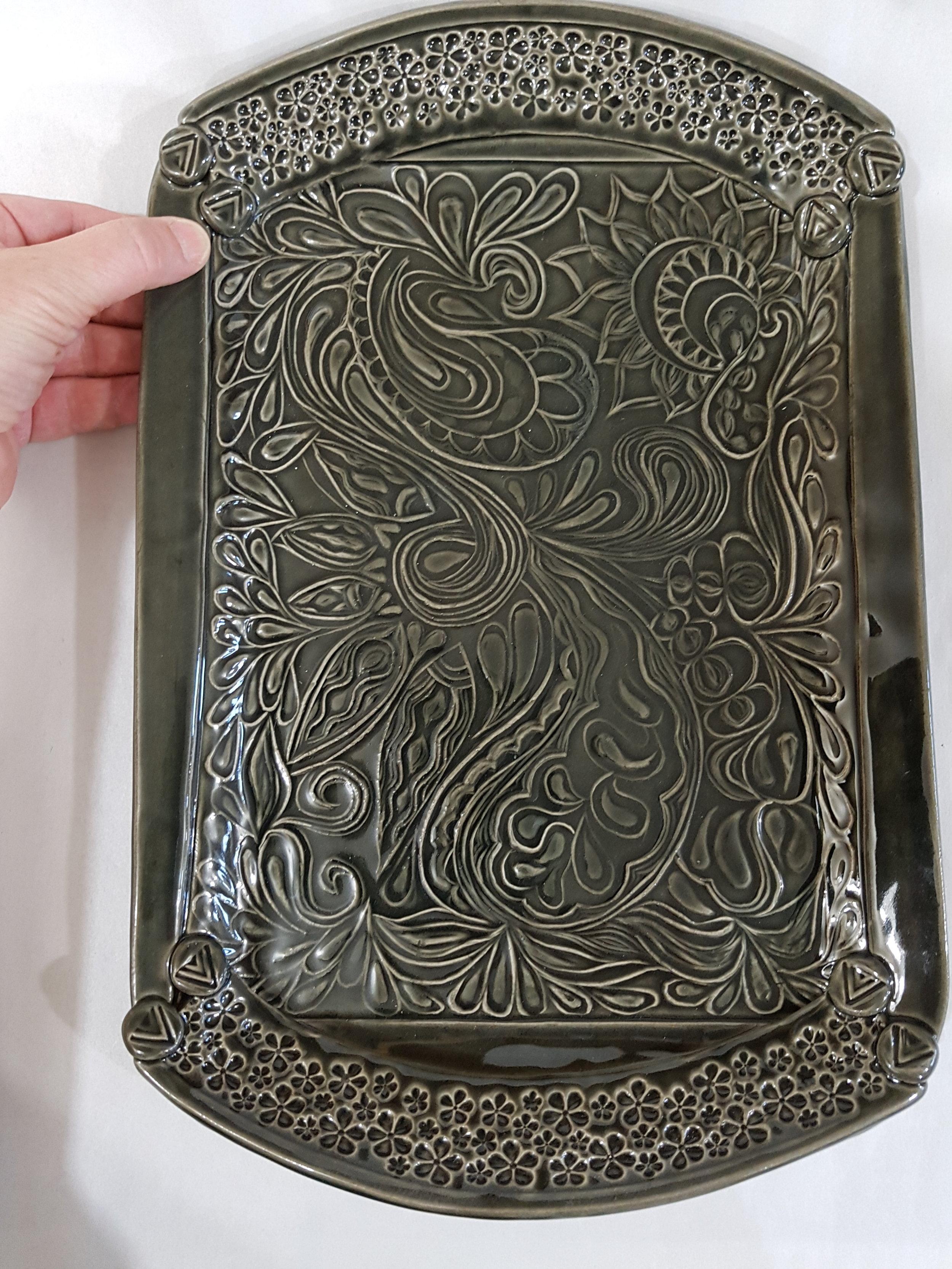 Dark Gray Carved Tray.jpg