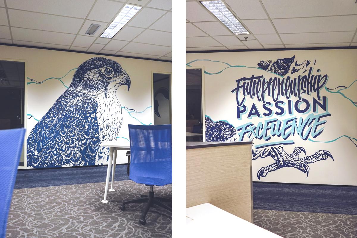 HFA Studio Falcon Mural