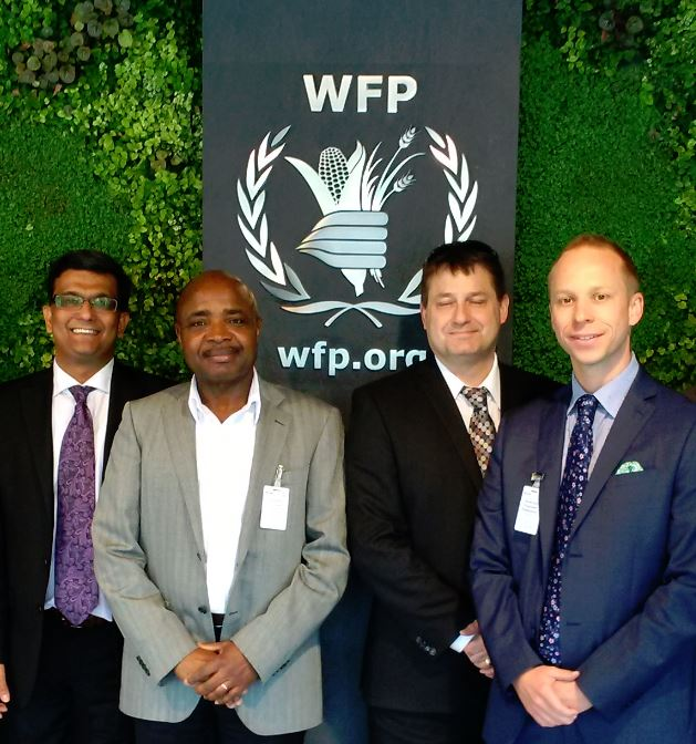 STEP representatives at the WFP Headquarters
