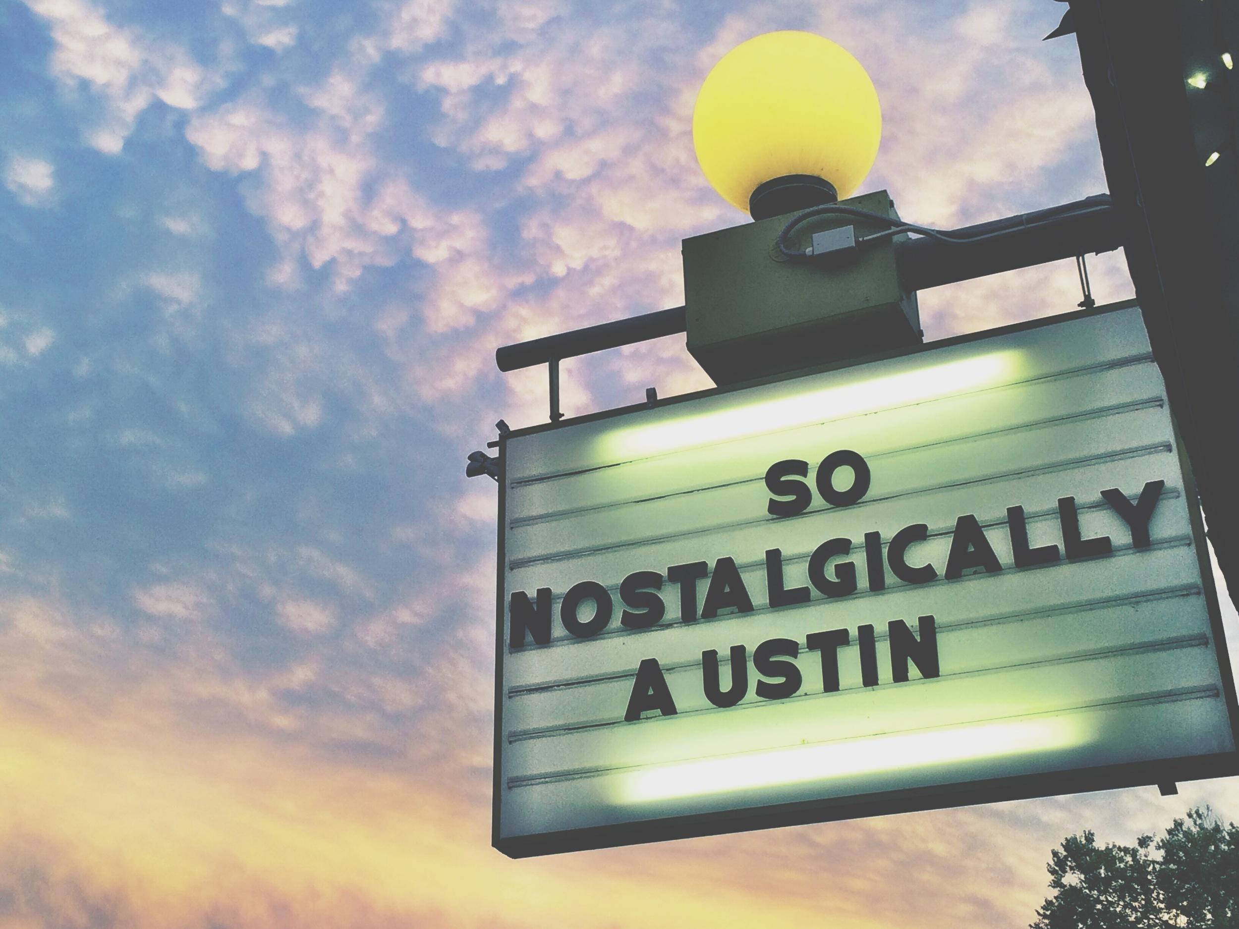 Snack Bar Marquee, 2014, Austin, TX