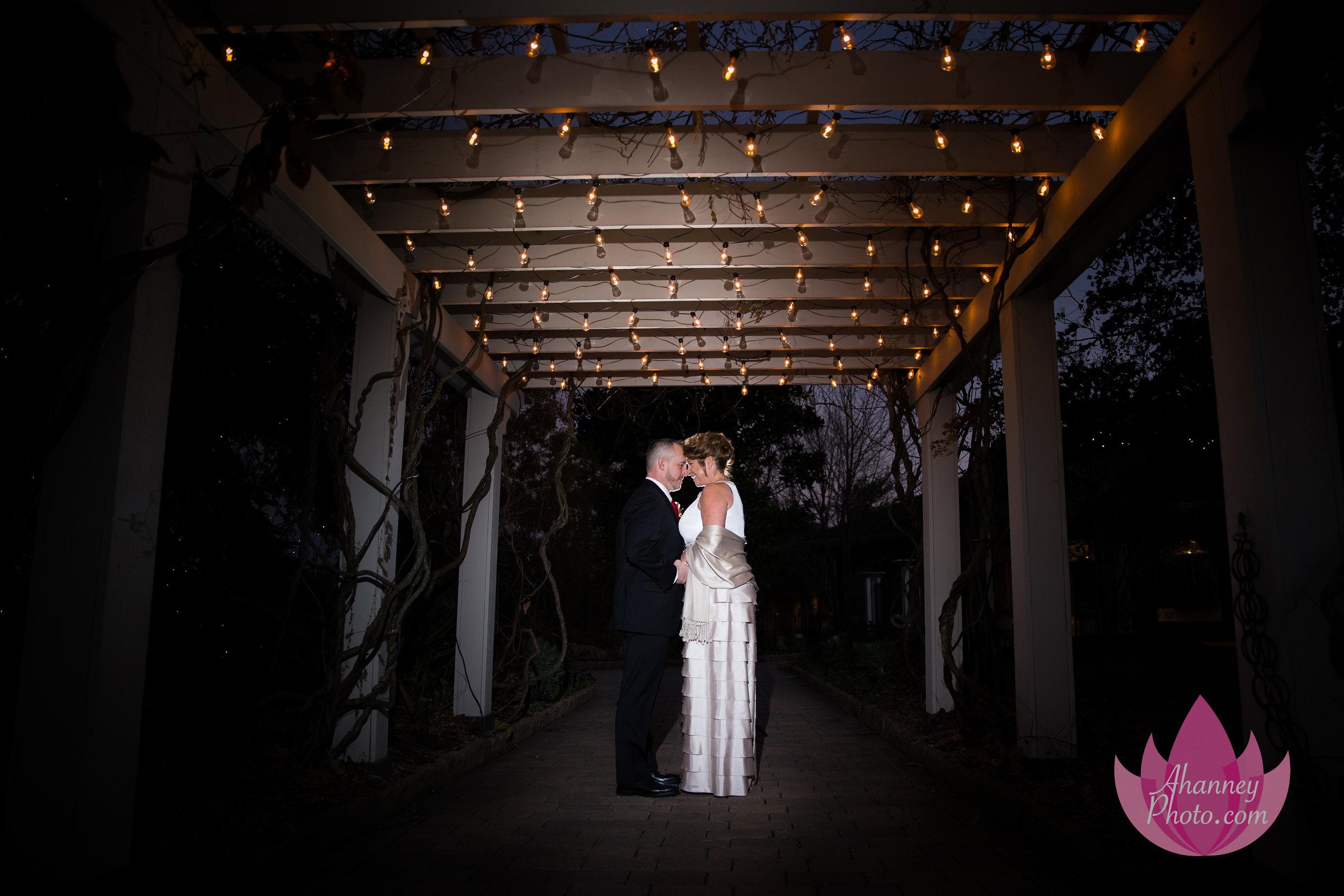 Wedding Photography of Bride and Groom Under Lights Scotland Run Golf Club Williamstown New Jersey Anastsia Hanney Photography AHanneyPhoto