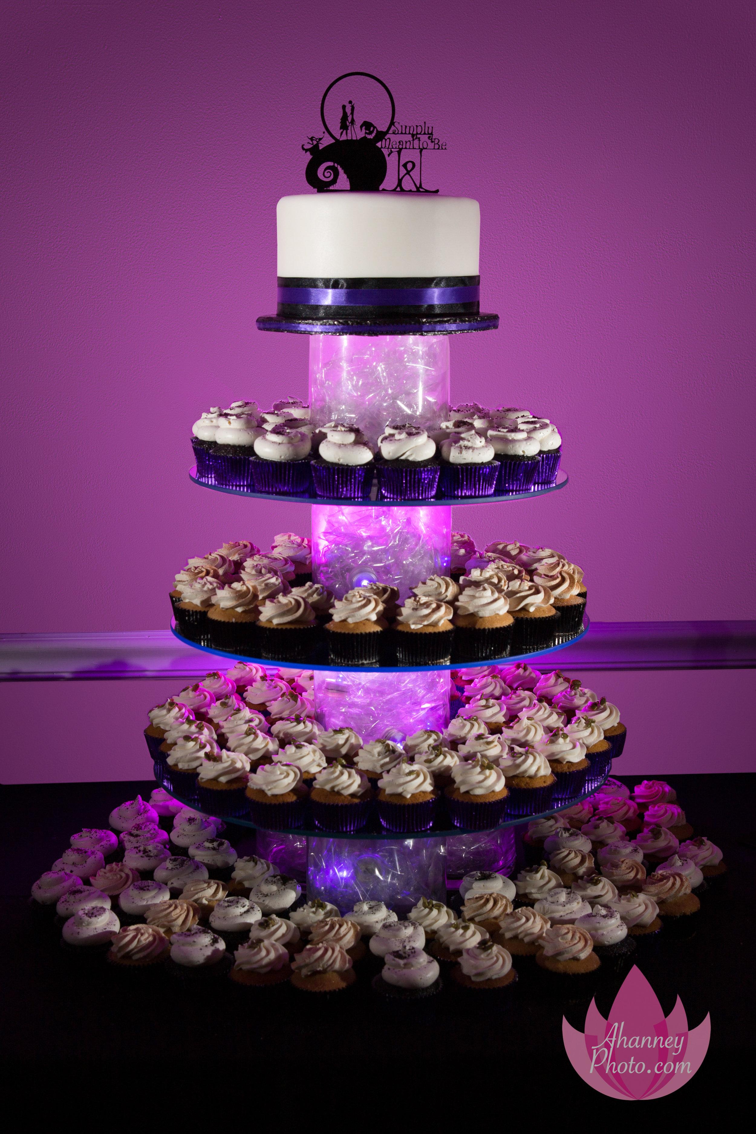 Wedding Cake Cupcake Purple Drexel Hill Pennsylvania New Jersey Philadelphia Delaware Anastasia Hanney Photography AHanneyPhoto