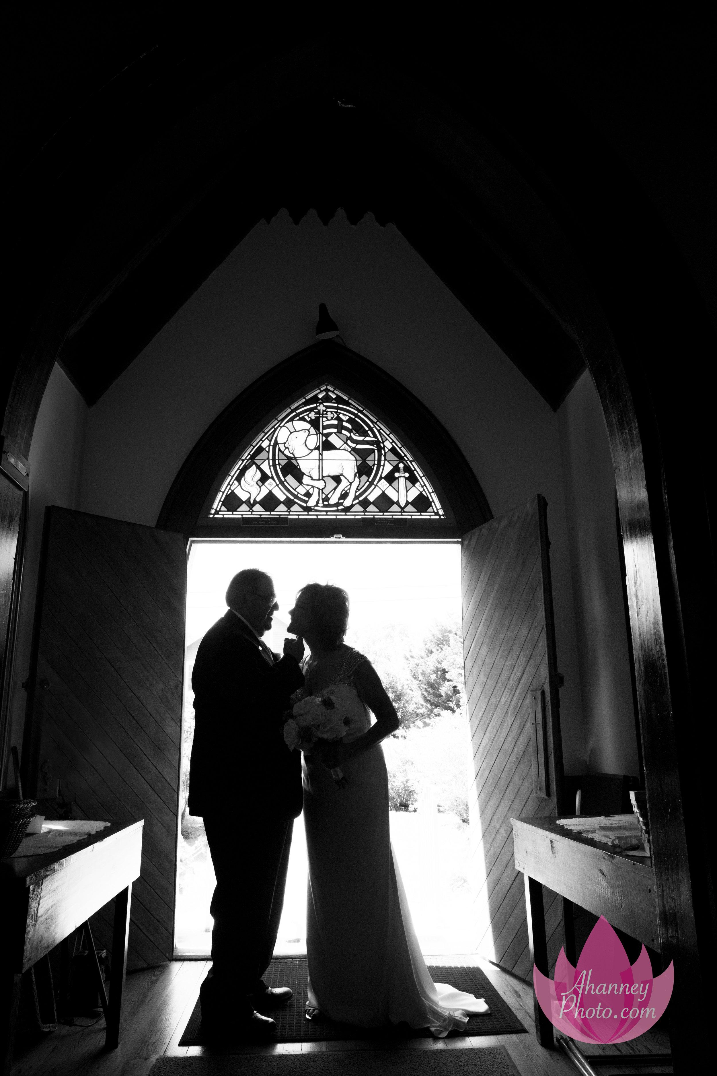 Wedding Groom Bride Doorway ChurchThe Grand Hotel Cape May New Jersey Philadelphia Delaware Anastasia Hanney Photography AHanneyPhoto