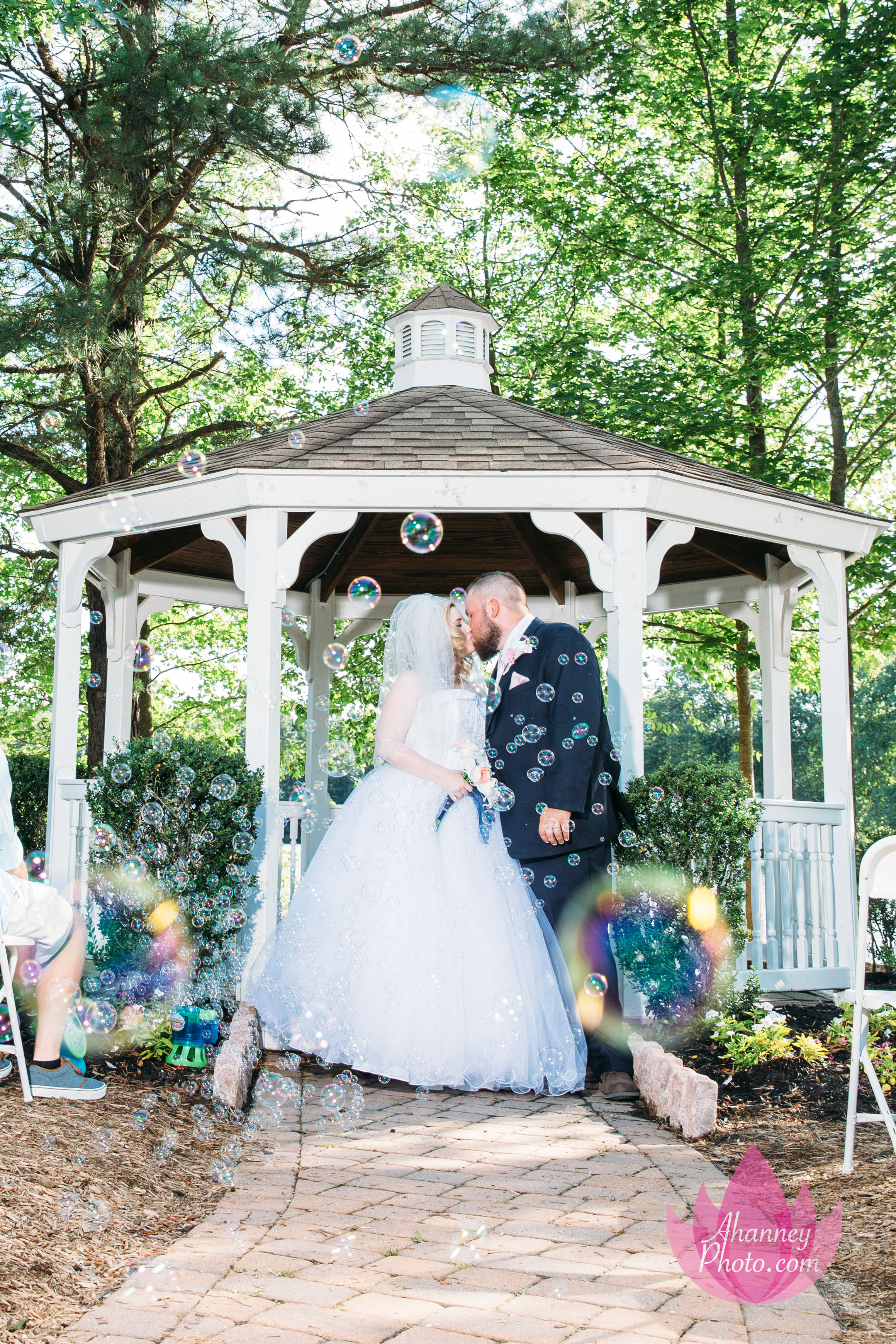 Wedding Photography of Bride and Groom in Gazebo Medford New Jersey Anastasia Hanney Photography AHanneyPhoto