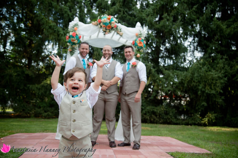 Wedding Photography of Cute Ring Bearer at La Luna Caterers in Bensalem Pennsylvania by Anastasia Hanney Photography AHanneyPhoto