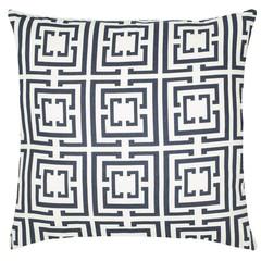 Cococozy Logo Linen Pillow - Navy