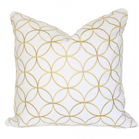 Arianna Belle Sungold Lattice Pillow