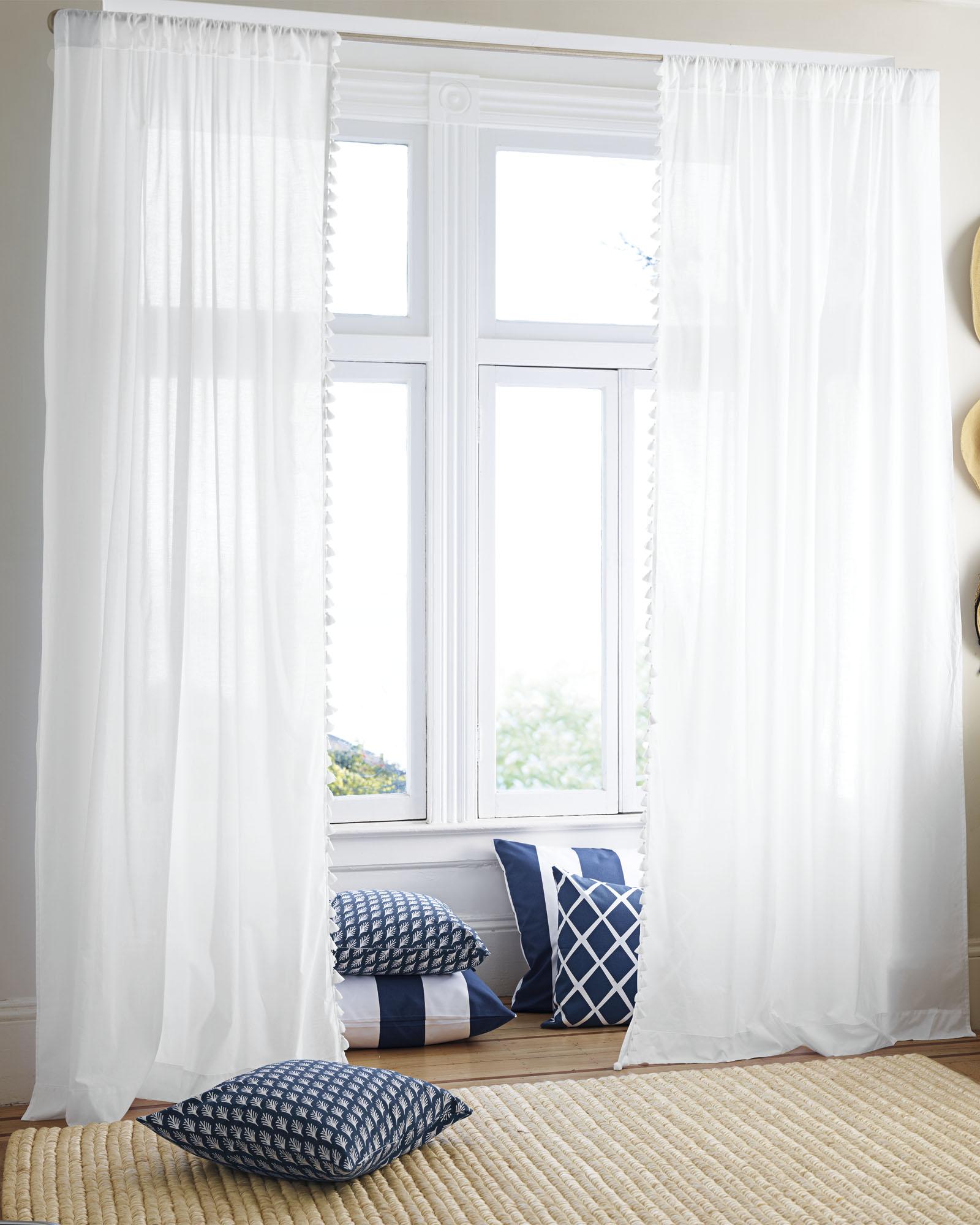 French Tassel Window Panel
