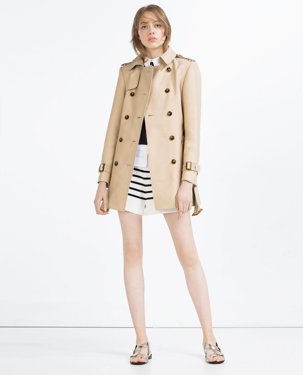 ZARA COTTON TRENCH COAT $149 | COLOR: CAMEL