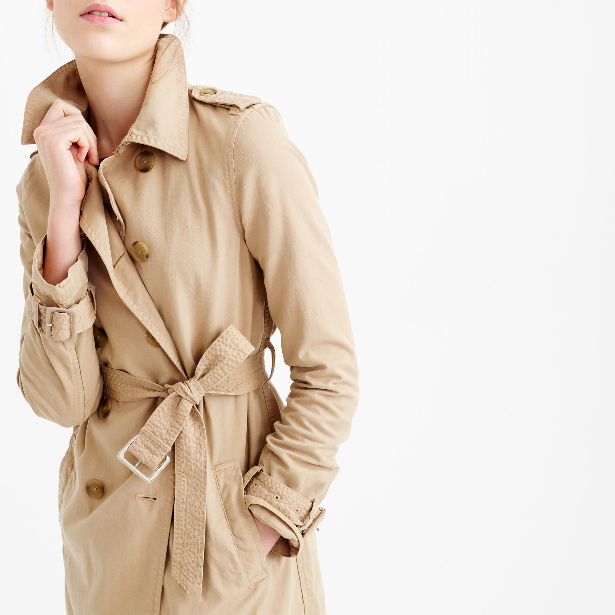 J. CREW WASHED COTTON TRENCH COAT $168