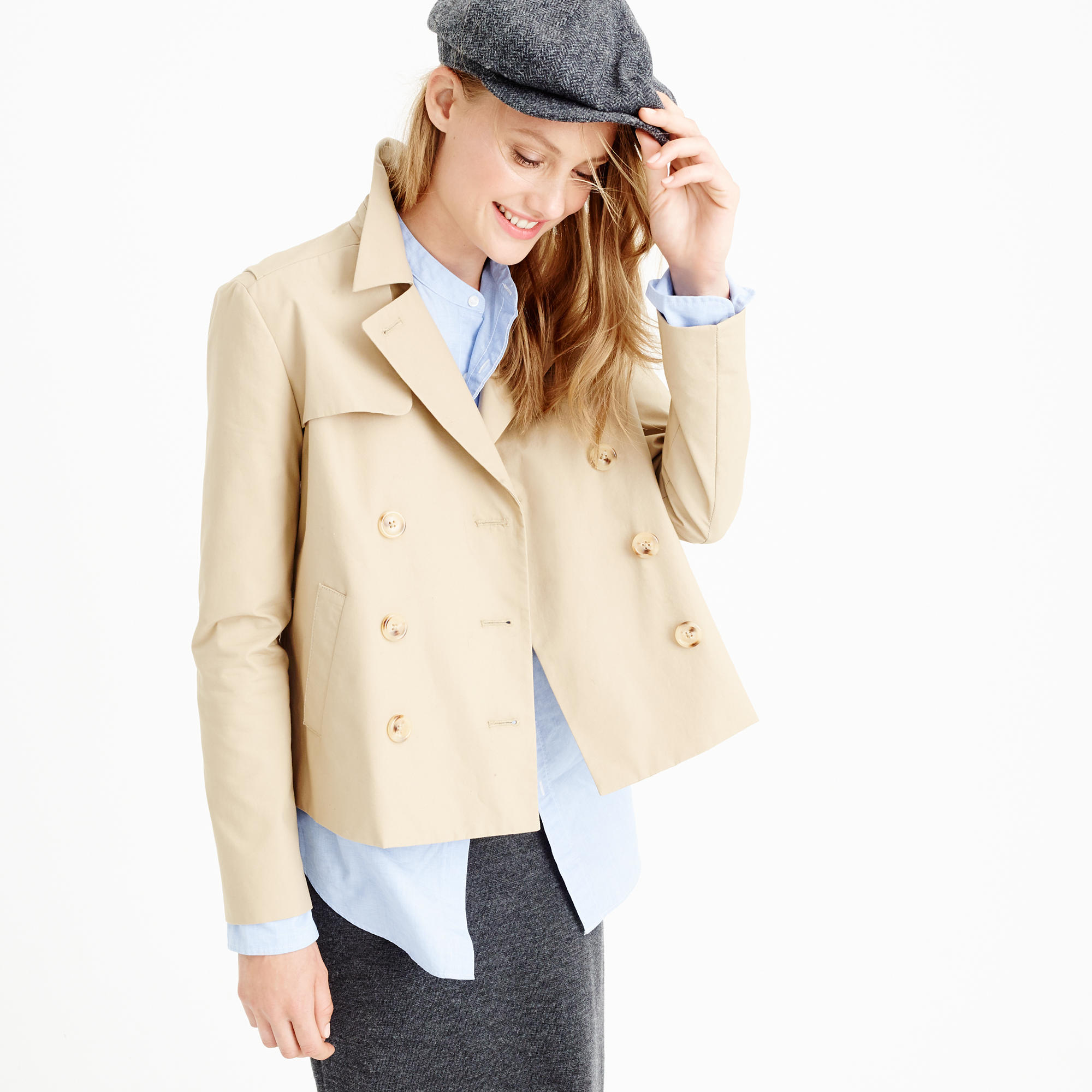 J. CREW JAPANESE POPLIN SWING TRENCH COAT »» ON SALE NOW FROM $89