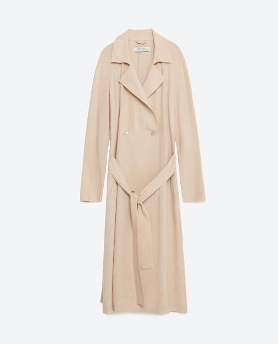 ZARA FLOWING TRENCH COAT $129