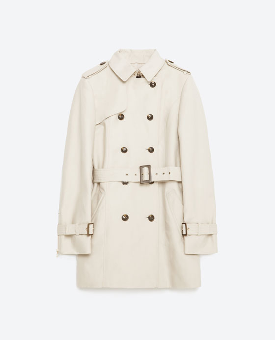 ZARA COTTON TRENCH COAT $149 | COLOR: SAND