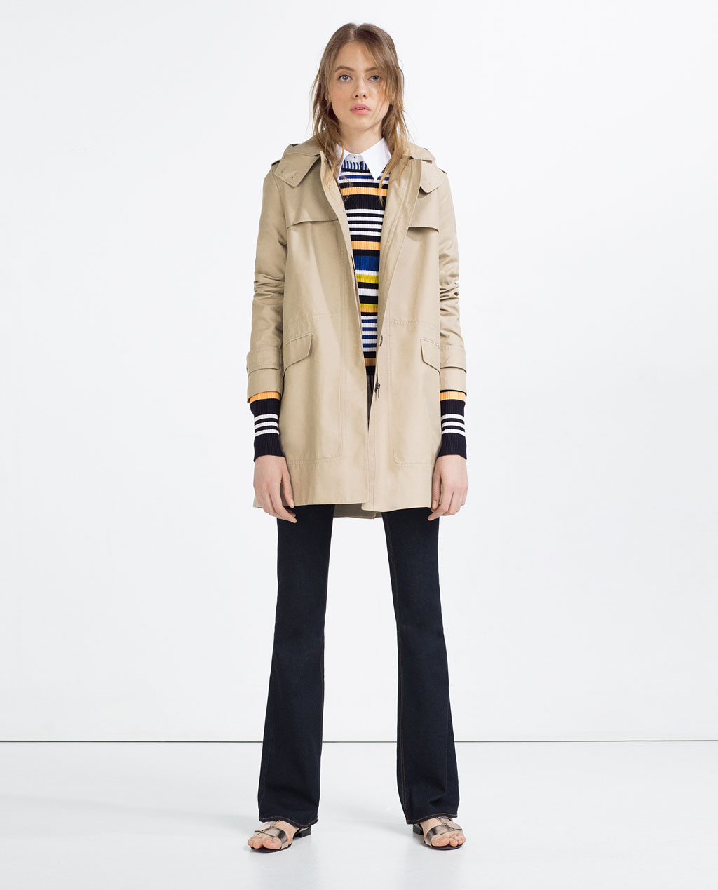 ZARA WATER REPELLENT TRENCH COAT $99.90