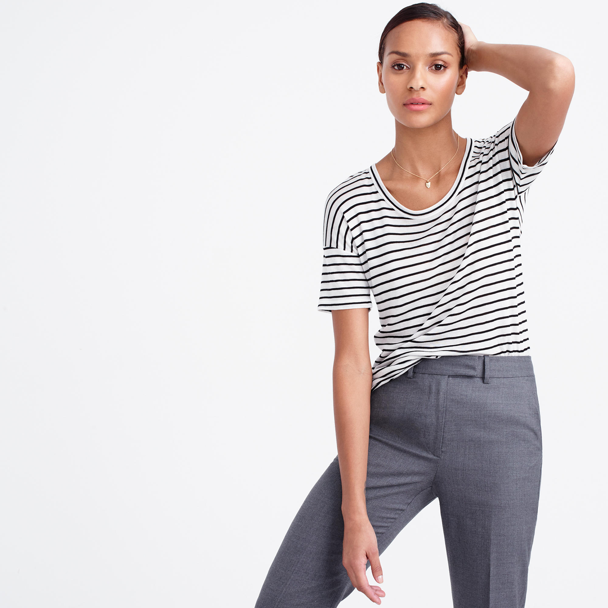 J. CREW 10 PERCENT T-SHIRT IN STRIPE $85