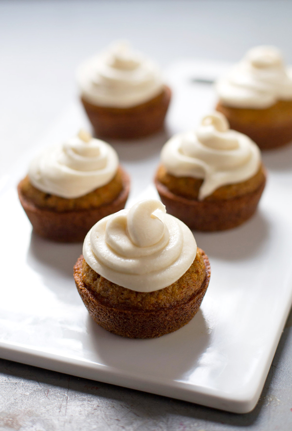 Carrot Cake Cupcakes with Cream Cheese Frosting by Pinch of Yum.