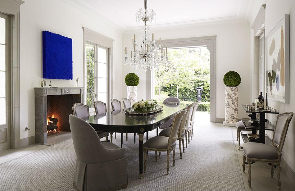{Rug, Coverall Industries; Art, Jason Martin; Maison Jansen table, Jane J. Marsden Antiques & Interiors}