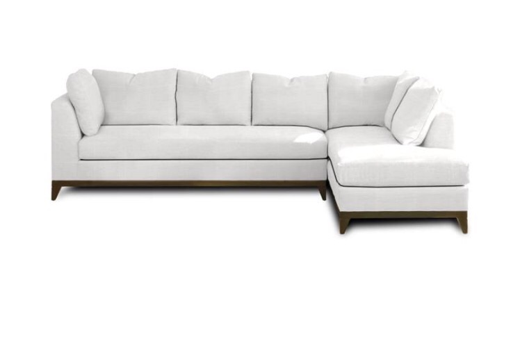 Kravet Adagio Sectional in White Madison Linen Cloud  | Contact me for pricing (Custom Upholstery)