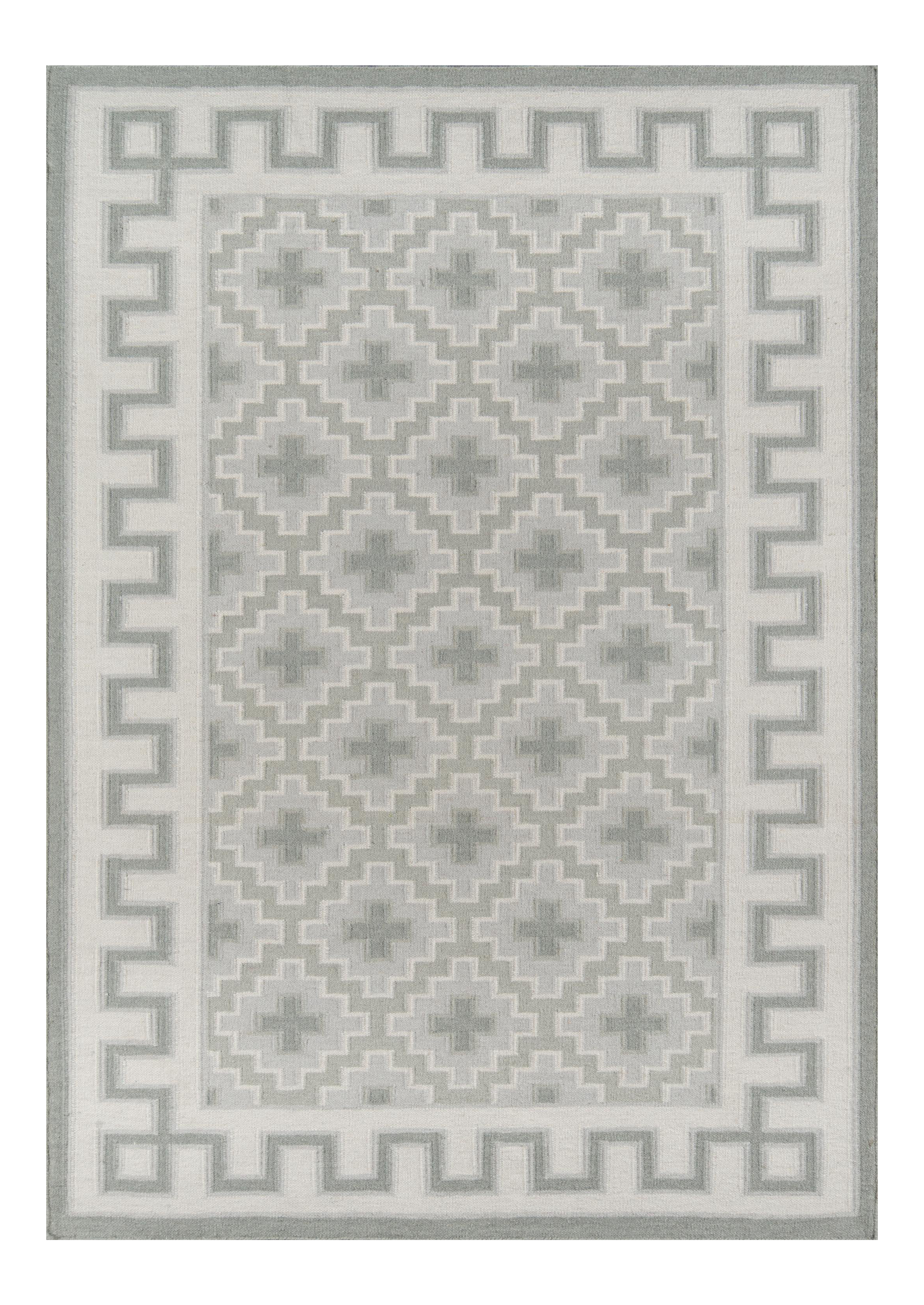 Thompson Brookline Grey Hand Woven Wool Area Rug