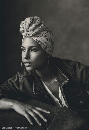 {Image Source: Alicia Keys via Citizens of Humanity}