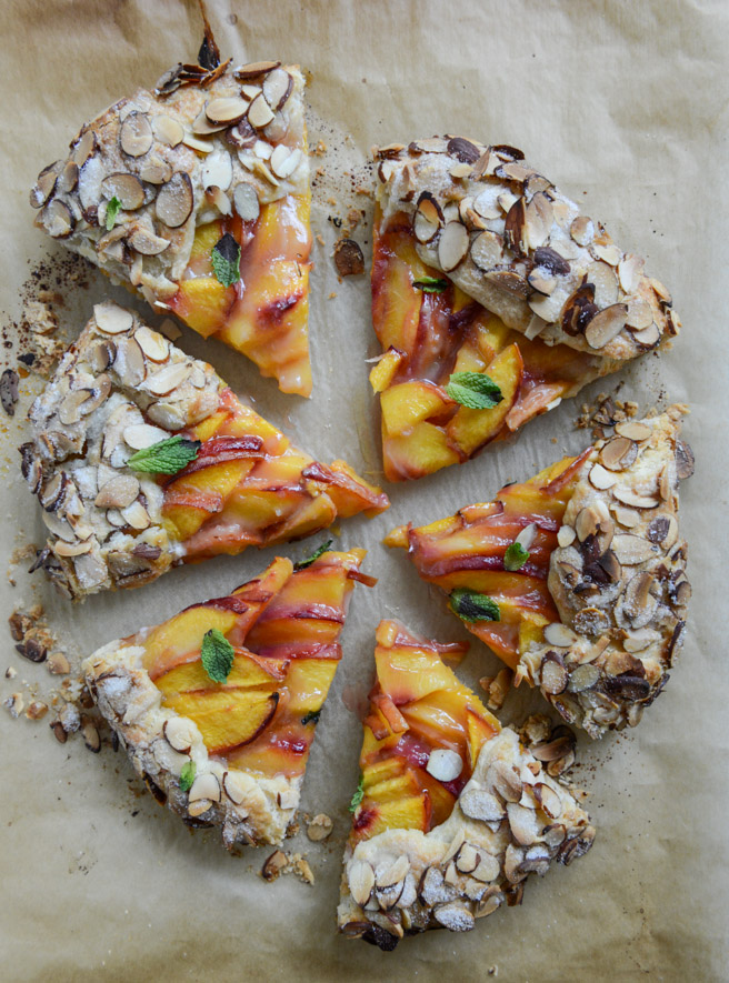 Ginger Peach Galette with Almond Crust