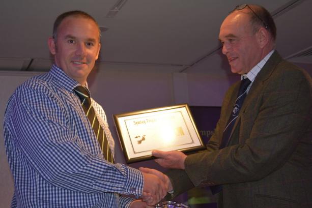 Jon Barnard receives his award from HDSBA President David Middleditch