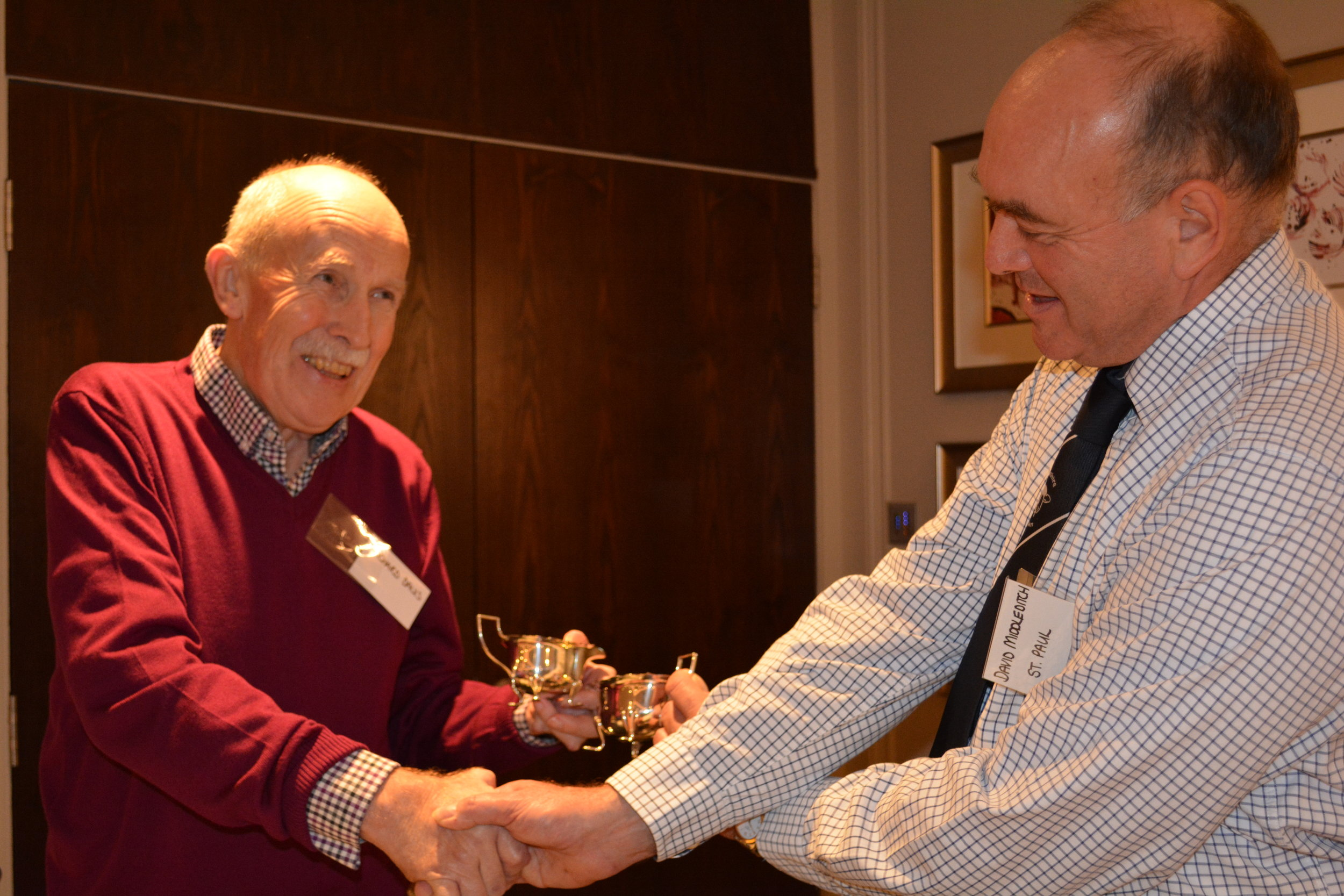A presentation to Richard Davis - marking 20 years service to the Association