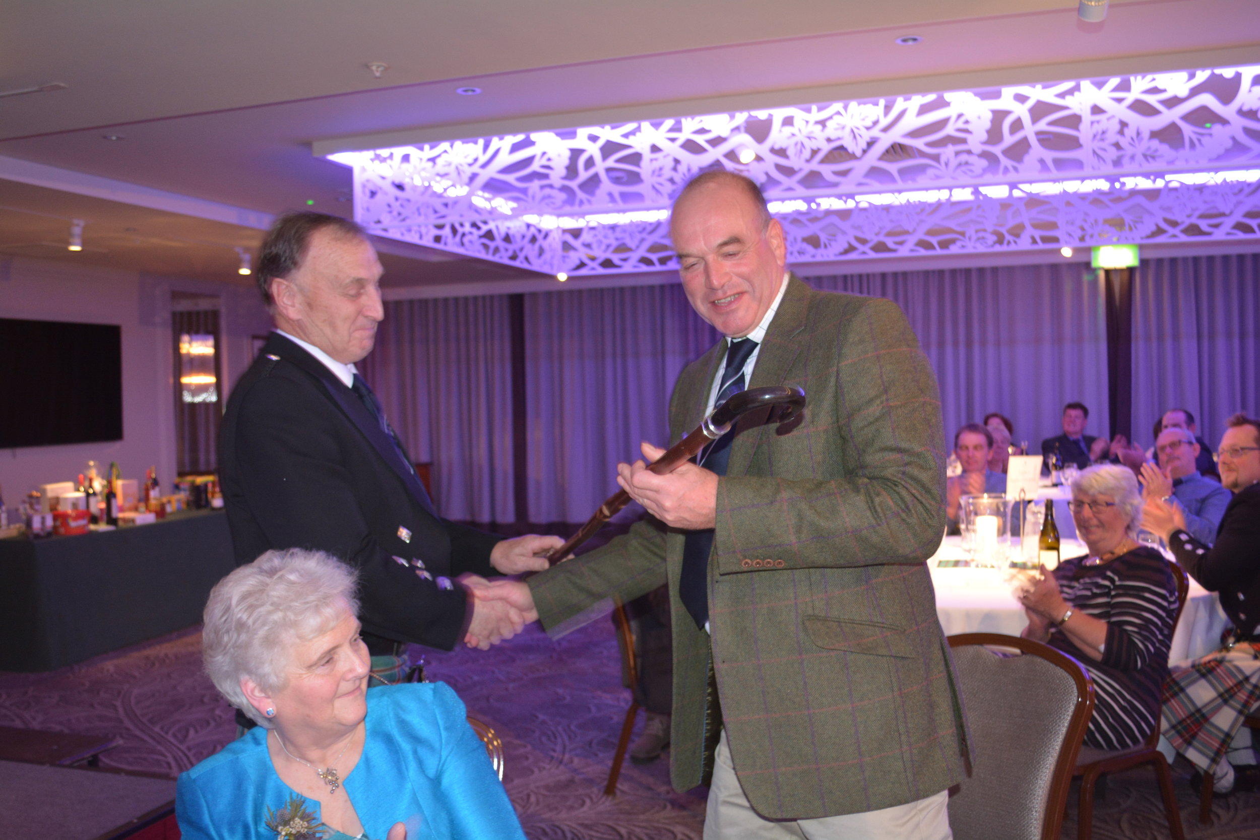 A presentation to David Middleditch from the Scottish Club - marking the first National AGM to be held in Scotland