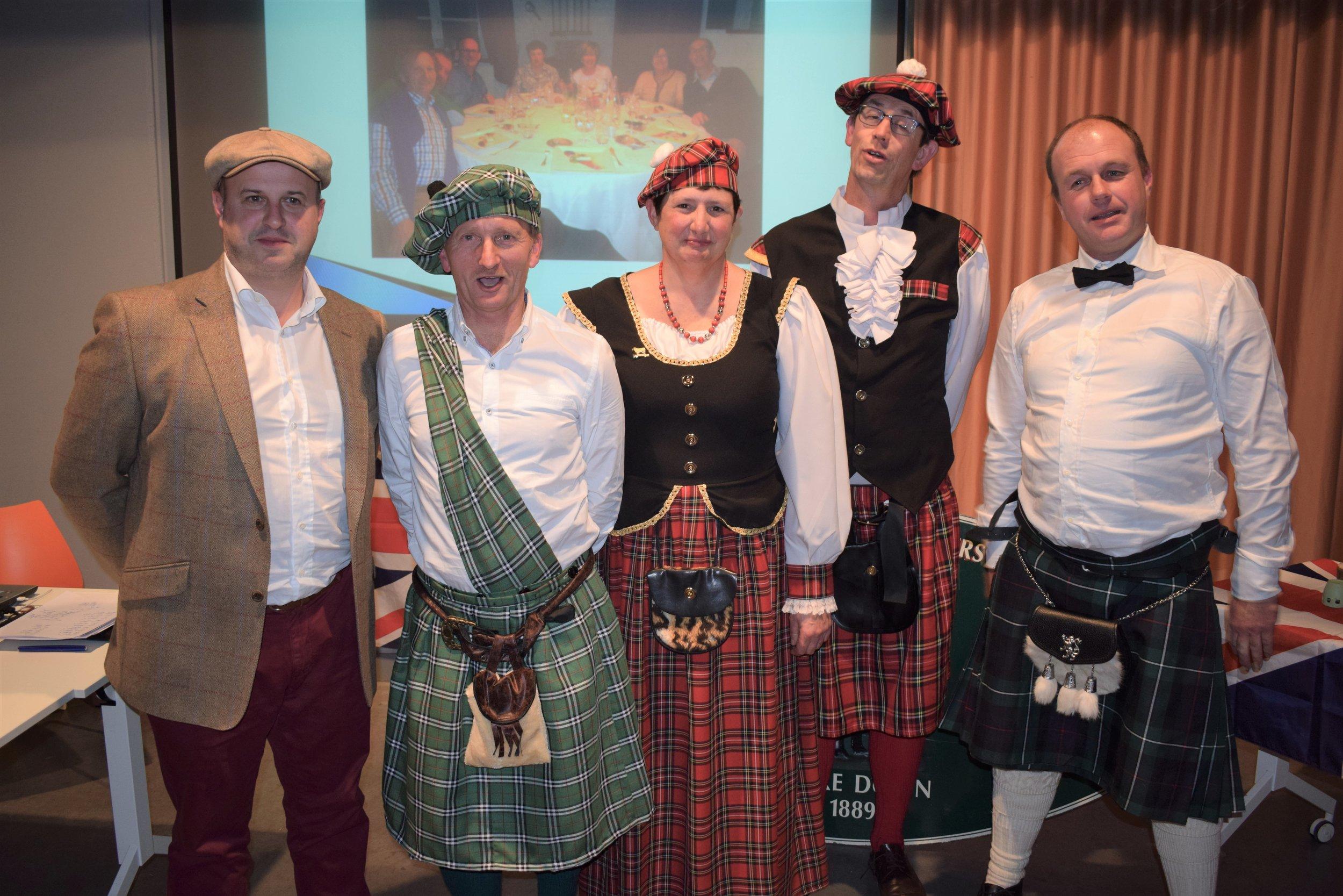 Left to Right: Reserve Champion Peter Ballekens, Rik Tanghe, Els Destrebecq, Champion Matias Vanden Bussche, Best Homebred Lambs Klaus Soenen