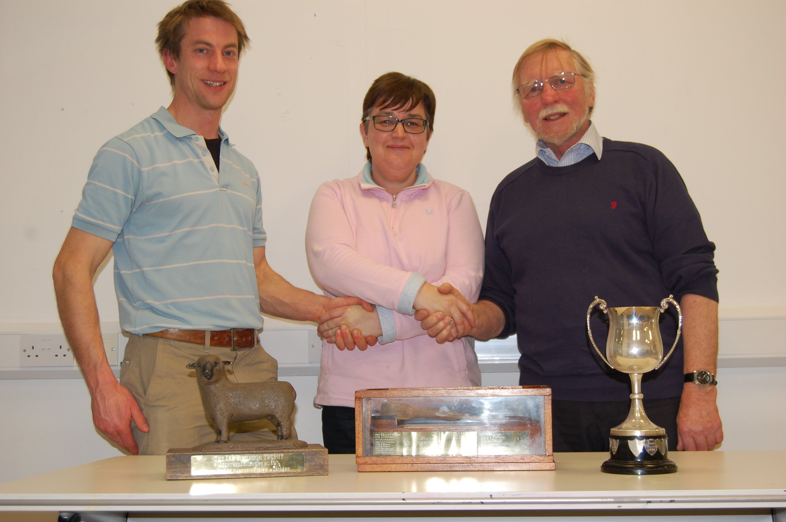Jonathan and Jim Fletcher receive their prize from Chairwoman Josephine Wray