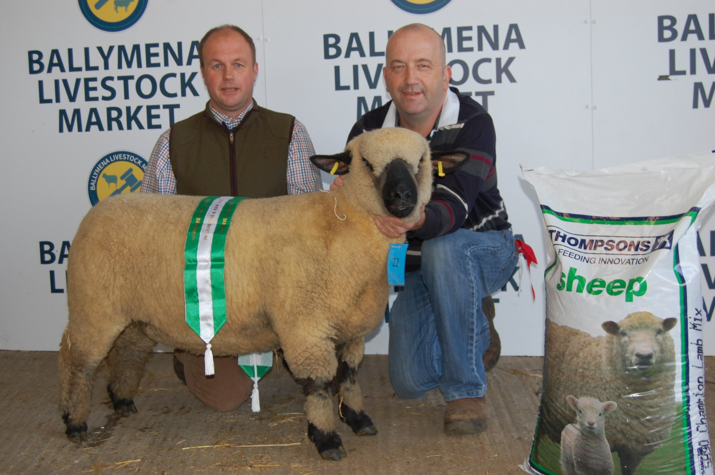 Rodney Wilson with his Reserve  Champion Ewe Lamb.JPG
