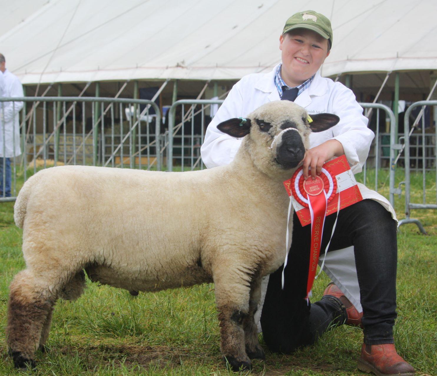 Richard Rundle with Reserve Champion Ram Lamb