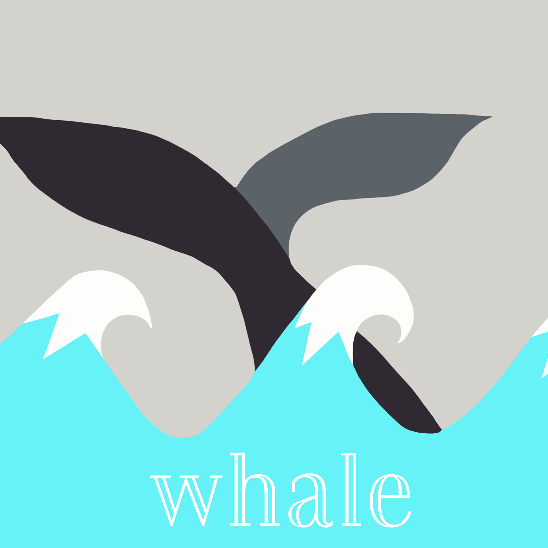 Whale turquoise black grey and white 6x6 card.jpg