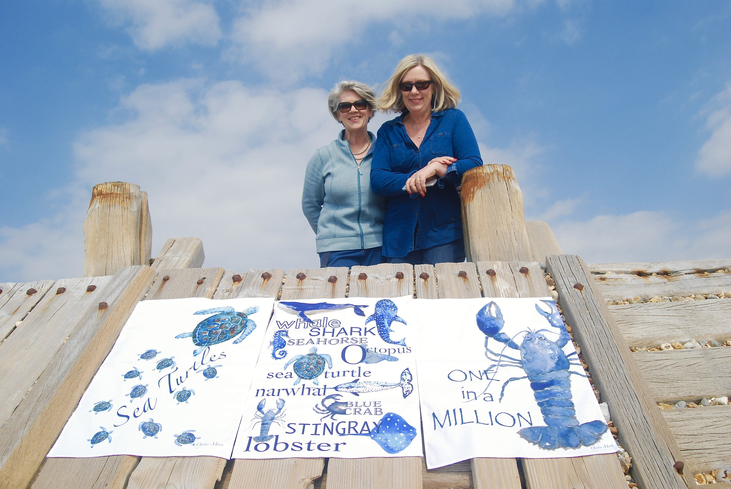 Gina & Michele - Oyster Moon with our new Tea Towels