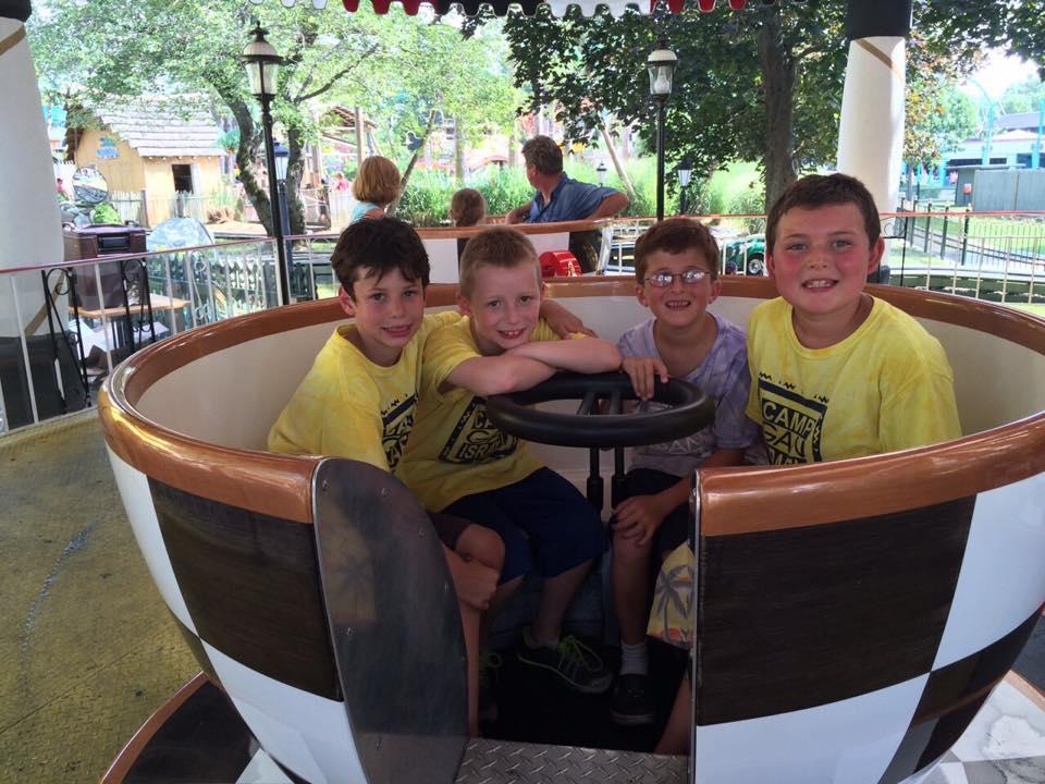 Juniors enjoying a day of fun at Canobie Lake Park