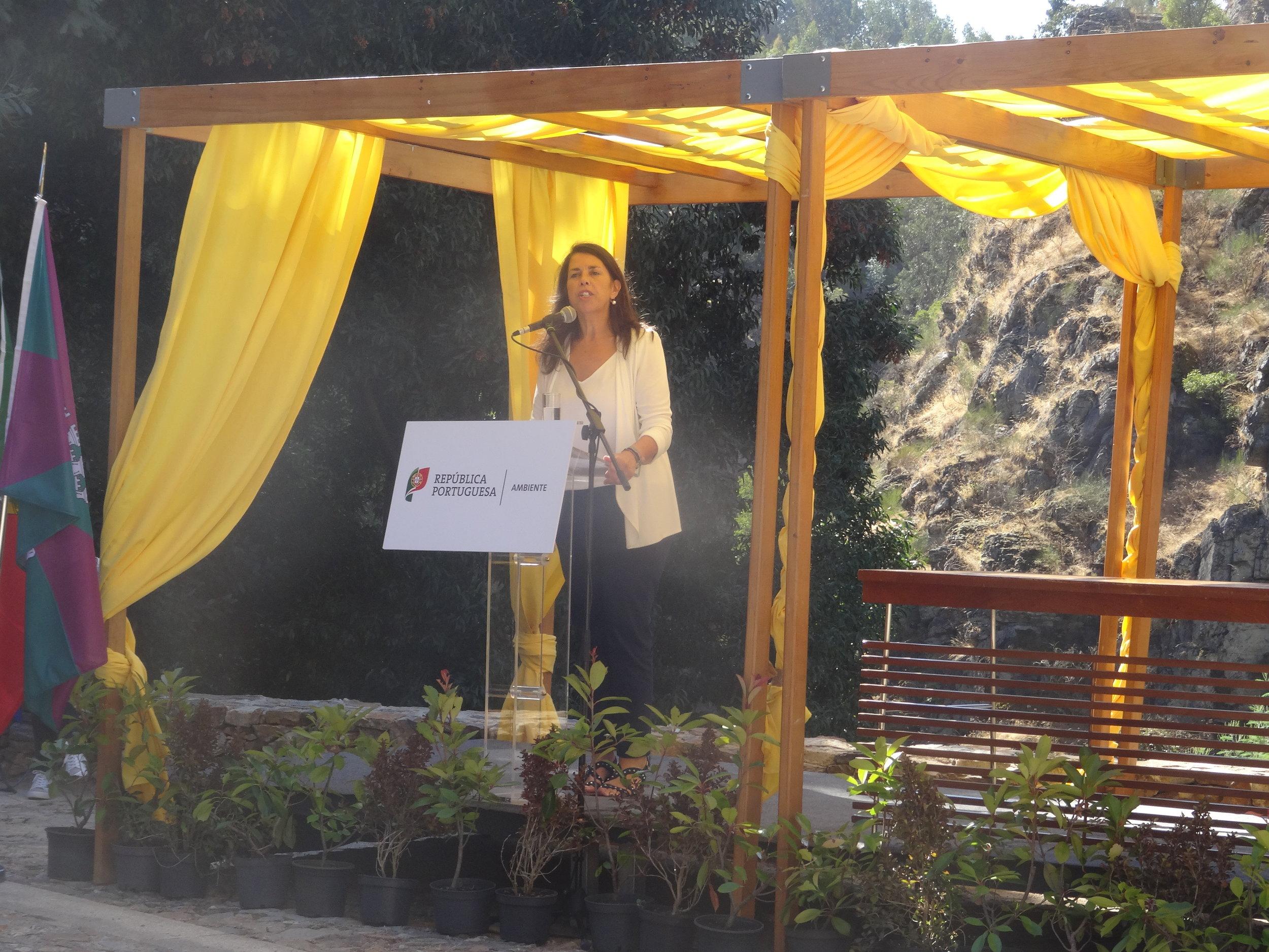 Secretária de Estado do Ordenamento do Território e da Conservação da Natureza, Célia Ramos