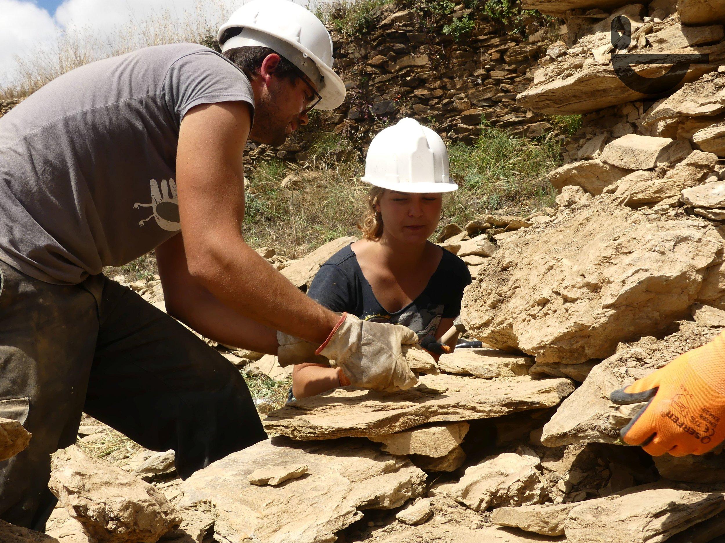 52.º Campo de Trabalho Voluntário Internacional dedicado à reconstrução de um pombal tradicional em Uva. Julho de 2018.