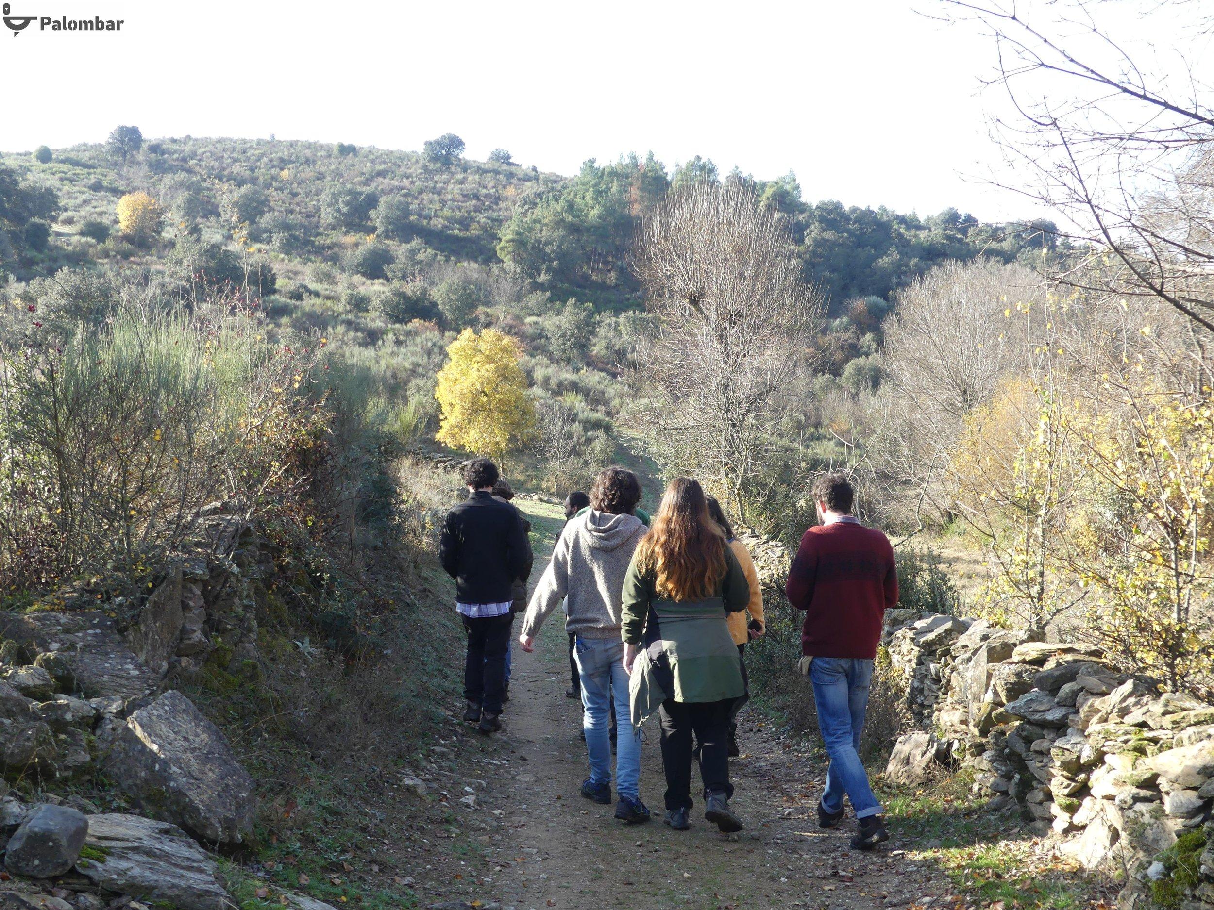 Percurso na aldeia de Uva.